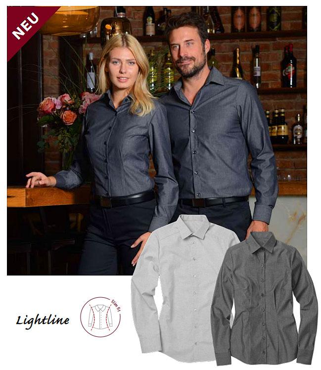 Damen Blusen für Hotel & Restaurant in Grau und Dunkelgrau