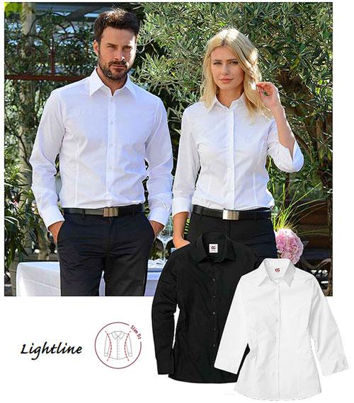 Herren Hemd weiß, schwarz, grau, champagner für Hotel Restaurant / Gastronomie, SLIm FIT