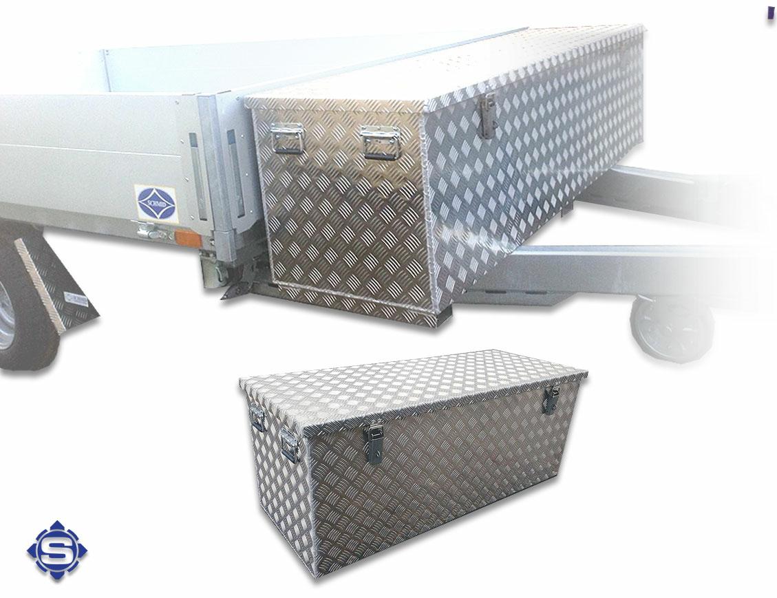 Langlebig & strapazierfähig, dies zeichnet den Werkstoff Aluminium aus und machen unsere Deichselboxen hiermit zu einem langjährigen & nützlichen Begleiter