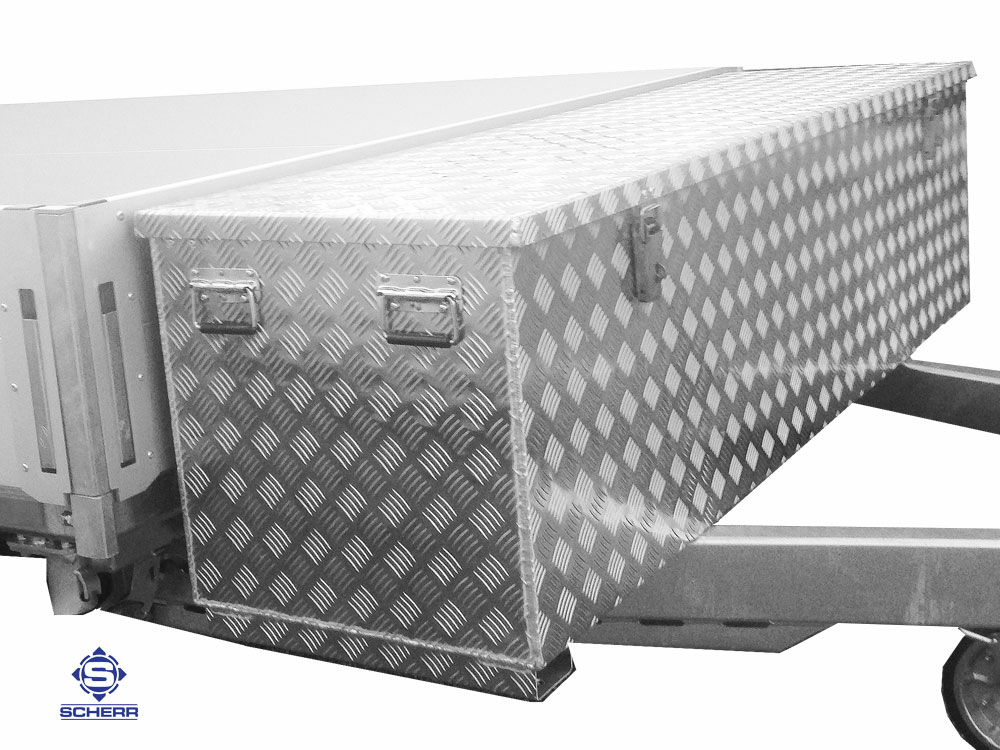 Deichselboxen Sonderanfertigungen bieten wir Ihnen vielen optionalen Möglichkeiten wie mit Haltegriffen oder Gasdruckfedern