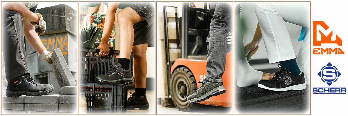 S2 Sicherheitsschuhe von EMMA, unsere Auswahl an Sicherheitsschuhen umfasst Arbeitsschuhe von Metallfrei bis ESD und Wasserfest, Rutschfest. Für Lager, Produktion & Fuhrpark