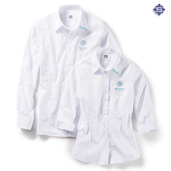 Bester Tragekomfort und und individuell, die Business Hemden und Damen Blusen aus der Linie Corporate Identity