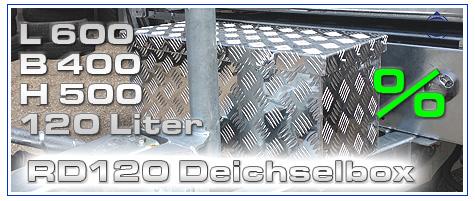 Wir führen ein großes Sortiment an Deichselboxen, Alu Standard Boxen, LKW  Unterflur & Unterbauboxen, sowie Aluminium Auffahrrampen
