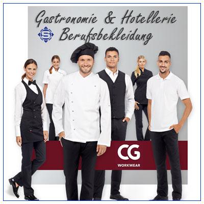 Wir statten die Gastonomie & Hotellerie Arbeitsbereich übergreifend mit hochwertiger, auf 95 Grad waschbarer Berufsbekleidung aus.