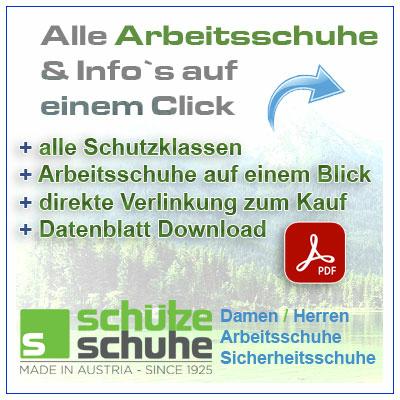 Alle Datenblätter und Normen aller Arbeitsschuhe / Sicherheitsschuhe von SCHÜTZE SCHUHE auf einem Click