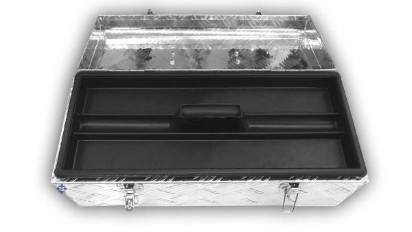 Aluminium Transportboxen / Werkzeugkasten, L 570 x B 245 x H 220, 30 Liter