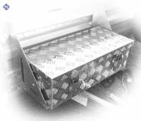 V - FORM, DEICHSEL Aluminium Boxen, L 600 / 500 x B 300 x...