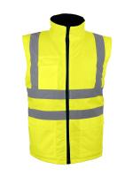 2 in 1: Gelbe Warnschutz Arbeitsjacke & Weste