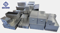 Pritschenboxen ALU Transportboxen, L: 1700 B: 700 H: 850/750, 883 Liter