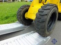 Aluminium Auffahrrampen L: 3000, B: 400 , Traglast bis 3900 Kg