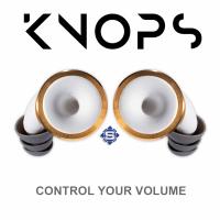 KNOPS mechanischer Gehörschutz / Ohrenstöpsel, Weiß - Gold