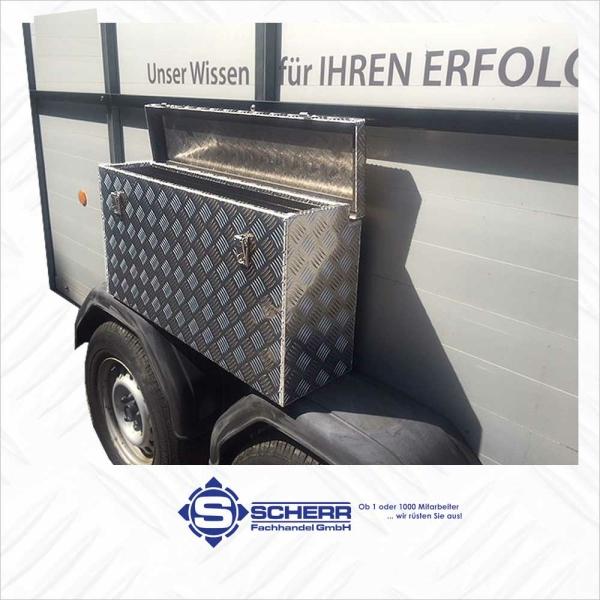 Deichsel-Box Wandbündig ca. 88 Liter L:1000, B:220/145, H:400 mm